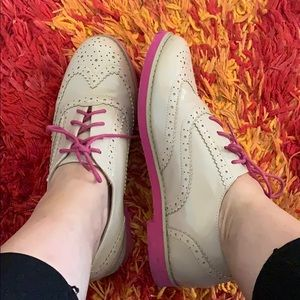 Bamboo pink and beige oxfords